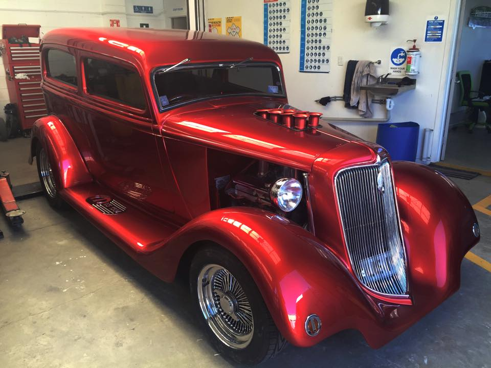 1934 Plymouth PF painted in DNA Candy
