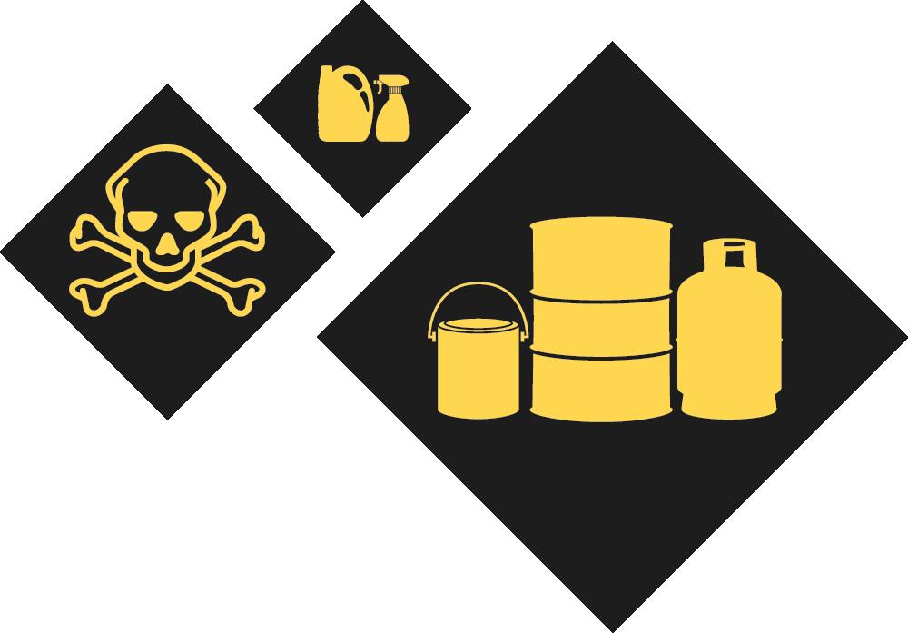 Hazardous Substances Icons