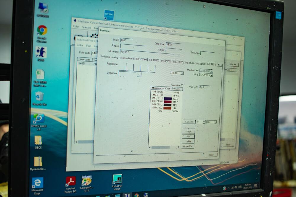 ICRIS software in computer screen